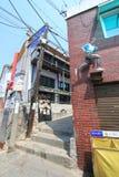 Widok Seul Ihwa malowidła ściennego wioska Obrazy Royalty Free