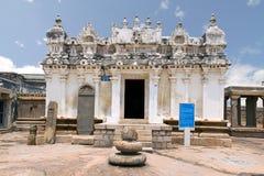 Widok Shasana lub Sasana Basadi Chandragiri wzgórze, Sravanabelgola, Karnataka India Zdjęcie Stock