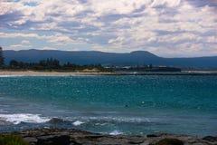 Widok Shellharbour plaża Wollongong fotografia stock
