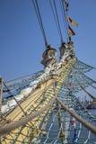 Widok ship& x27; s maszt Zdjęcie Stock