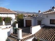 Widok sierra Nevada od Albaicin, Granada Zdjęcia Royalty Free