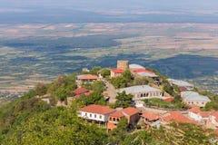 Widok Sighnaghi stary miasteczko w Kakheti regionie, Gruzja (Signagi) Zdjęcia Royalty Free