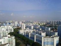 Widok Singapur flatted mieszkania fotografia royalty free