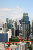 Widok Singapur miasto od Skybridge Zdjęcia Stock