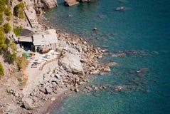Widok skały plaża Obraz Royalty Free