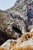 Widok skaliste góry Kourtaliotiko wąwóz, Crete, Grecja fotografia royalty free