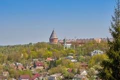 Widok Smolensk forteca, impregnable bastion, solidnie broni stan granicy fotografia stock