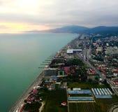 Widok Sochi od samolotu zdjęcie royalty free