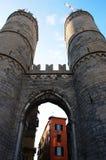 Widok Soprana drzwi w genui, Włochy fotografia stock