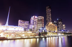 Widok Southbank teren w Melbourne, Australia Obrazy Stock