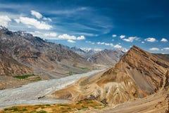 Widok Spiti dolina w himalajach Zdjęcie Royalty Free