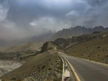 Widok sposób Passu, Gilgit, Pakistan Fotografia Royalty Free