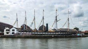 Widok SS Wielki Brytania, pasażerski steamship w Bristol Obrazy Royalty Free