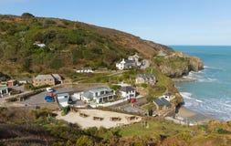 Widok St Agnes Północny Cornwall Anglia UK Fotografia Stock