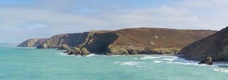 Widok St Agnes wybrzeże Cornwall Anglia UK Obrazy Royalty Free