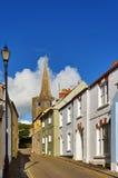 Widok St Kościół Mary, Tenby zdjęcie royalty free