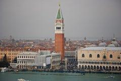 Widok St Marcus kwadrat w Wenecja, Włochy Obrazy Royalty Free