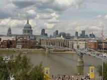 Widok St Pauls Katedralny Londyński Anglia obrazy stock