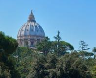 Widok St Peters, Watykan Zdjęcie Stock