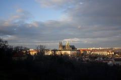 Widok St Vitus katedra od Petrin wzgórza Obrazy Royalty Free