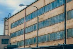 Widok stare fabryki/rocznik Zdjęcia Stock