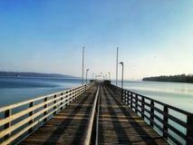 Widok Starnberger jezioro zdjęcie royalty free