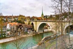 Widok stary centrum miasta Bern Zdjęcia Royalty Free