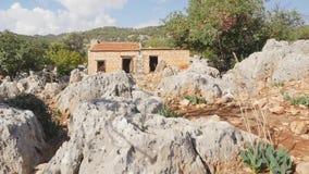 Widok stary dom budowa? na antycznych ruinach zbiory