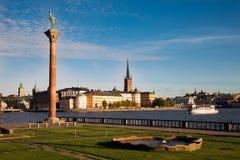 Widok stary grodzki Gamla Stan Sztokholm, Szwecja Obraz Royalty Free