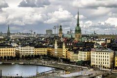 Widok stary grodzki Gamla Stan w Sztokholm Szwecja Fotografia Stock