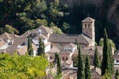 Widok stary kościół w Granada w Hiszpania Fotografia Royalty Free