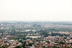 Widok stary mały miasto Lviv Fotografia Stock