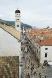 Widok Stary miasteczko Dubrovnik Zdjęcia Stock