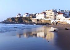 Widok stary miasteczko na oceanie Atlantycki ocean Obrazy Royalty Free
