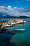 Widok stary miasteczko od starego fortecy, Corfu, Grecja Obrazy Stock