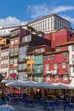 Widok stary miasteczko Porto, Portugalia, 23 może 2014, miasto Porto o Zdjęcia Stock