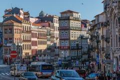 Widok stary miasteczko Porto, Portugalia, 23 może 2014, miasto Porto o Zdjęcie Royalty Free