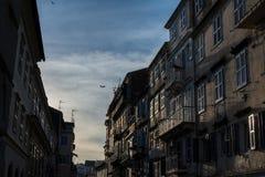 Widok stary miasteczko w Corfu wyspie, Grecja Zdjęcia Royalty Free