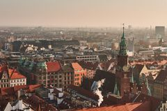 Widok stary miasto od above Fotografia Royalty Free