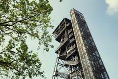 Widok stary mineshaft obrazy stock