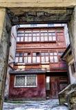 Widok stary patio w Lviv Zdjęcia Stock