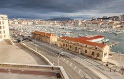 Widok stary port Marseille Obraz Stock
