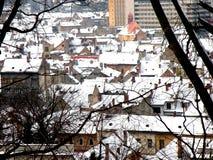 Widok stary średniowieczny miasteczko Brasov (Kronstadt) Obraz Stock