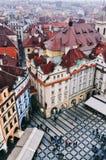 Widok stary rynek w Praga Zdjęcie Royalty Free