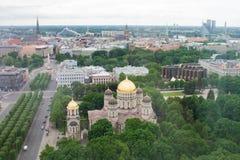 Widok stary Ryski od wzrosta fotografia royalty free