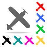 widok stary samolot od above ikony Elementy Lotniskowe wielo- barwione ikony Premii ilości graficznego projekta ikona Prosta ikon ilustracji