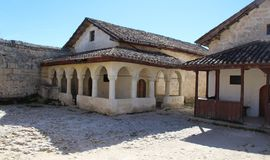 Widok stary sunagogue w Crimea obraz stock