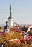 Widok stary Tallinn, Estonia Zdjęcie Stock