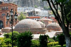 Widok stary Tbilisi Obrazy Royalty Free