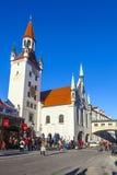 Widok stary urząd miasta w Monachium Zdjęcie Stock
